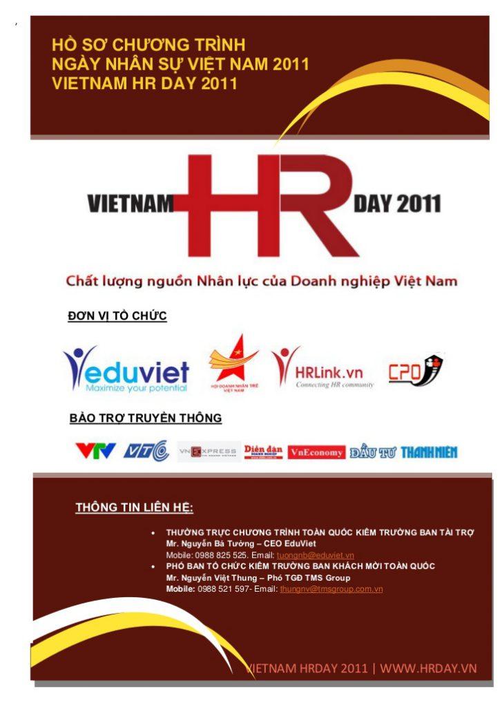 Vietnam HR Day 2011 - môi trường làm việc