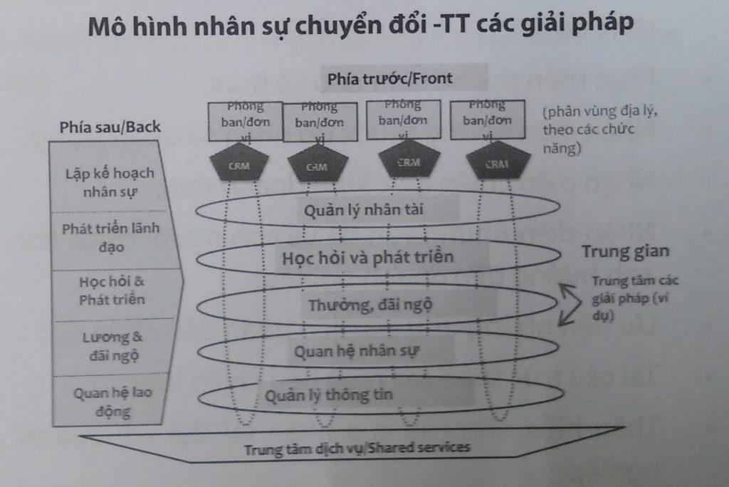 mô hình nhân sự chuyển đổi các giải pháp, quản trị nguồn nhân lực