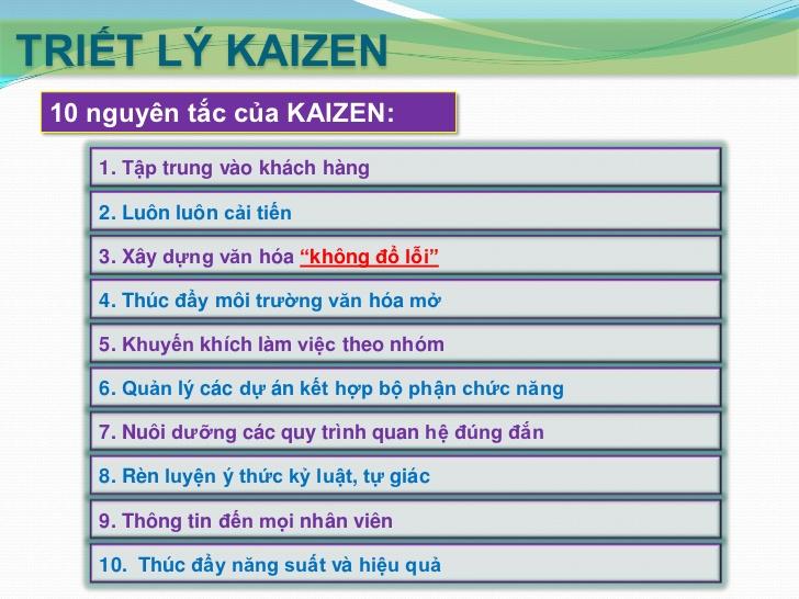 10 nguyên tắc Kaizen